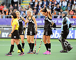 The Hague, Netherlands, June 05: Stacey Michelsen #31 of New Zealand gestures during the field hockey group match (Women - Group A) between New Zealand and The Netherlands on June 5, 2014 during the World Cup 2014 at Kyocera Stadium in The Hague, Netherlands. Final score 0-2 (0-2) (Photo by Dirk Markgraf / www.265-images.com) *** Local caption ***