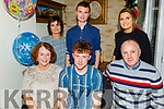 Fergal O'Brien from Blennerville celebrating his 18th birthday in Bella Bia on Sunday.<br /> Seated l to r: Cathy Hogan, Fergal and Frank O'Brien.<br /> Back l to r: Elma, Conor and Anna Griffin.