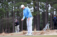 PINEHURST, NC - MARCH 02: Austin Greaser of the University of North Carolina putts on the 17th hole at Pinehurst No. 2 on March 02, 2021 in Pinehurst, North Carolina.