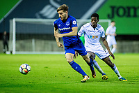 Friday 27 October 2017<br /> Pictured: <br /> Re: Swansea City U23 v Everton U23 Premier League 2 match at the Landore Training facility, Swansea, Wales, UK