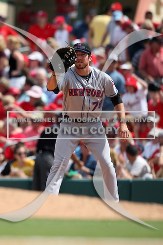 March 20, 2010:  First Baseman Ike Davis (78) of the New York Mets during a Spring Training game at Roger Dean Stadium in Jupiter, FL.  Photo By Mike Janes/Four Seam Images