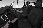 Front seat view of a 2018 Ford Tourneo Custom Sport 5 Door Passenger Van front seat car photos