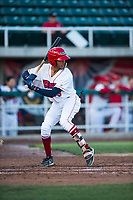 Orem Owlz shortstop Jeremiah Jackson (39) at bat during a Pioneer League game against the Ogden Raptors at Home of the OWLZ on August 24, 2018 in Orem, Utah. The Ogden Raptors defeated the Orem Owlz by a score of 13-5. (Zachary Lucy/Four Seam Images)