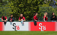 Standard players not selected for this match are pictured during a female soccer game between Standard Femina de Liege and Oud Heverlee Leuven on the 10th and last matchday in play off 1 of the 2020 - 2021 season of Belgian Scooore Womens Super League , saturday 29 th of May 2021  in Angleur , Belgium . PHOTO SPORTPIX.BE | SPP | SEVIL OKTEM