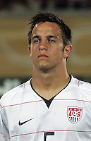 The United States' Danny Cruz (5) stands on the field before the match against South Korea during the FIFA Under 20 World Cup Group C match between the United States and South Korea at the Mubarak Stadium on October 02, 2009 in Suez, Egypt.