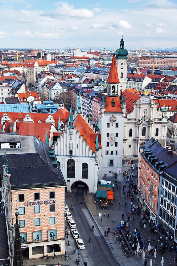 Old Town Munich, München, Bavaria, Germany, Deutschland, Europe