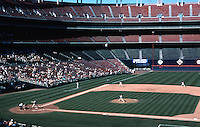Ballparks: San Diego--Jack Murphy Stadium 9/29/92. The smallest crowd of the year. The stadium is 20 years old.