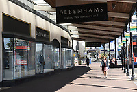 The Debenhams store in Torquay still closed during the COVID-19 pandemic and lockdown