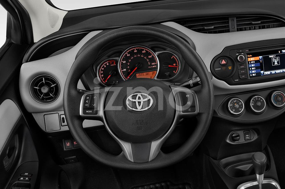 Car pictures of steering wheel view of a 2018 Toyota Yaris L 3-Door Liftback 3 Door Hatchback