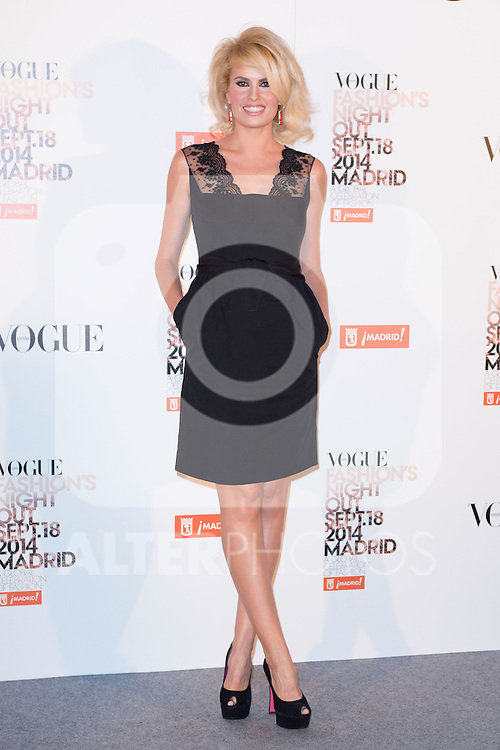 """Adriana Abenia attends the """"VOGUE FASHION NIGHT OUT"""" Photocall at Jose Ortega y Gaset street in Madrid, Spain. September 18, 2014. (ALTERPHOTOS/Carlos Dafonte)"""