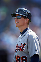 Detroit Tigers coach Matt Martin (88) during a Spring Training game against the New York Yankees on March 2, 2016 at George M. Steinbrenner Field in Tampa, Florida.  New York defeated Detroit 10-9.  (Mike Janes/Four Seam Images)