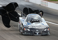 Mar 29, 2014; Las Vegas, NV, USA; NHRA funny car driver Cruz Pedregon during qualifying for the Summitracing.com Nationals at The Strip at Las Vegas Motor Speedway. Mandatory Credit: Mark J. Rebilas-