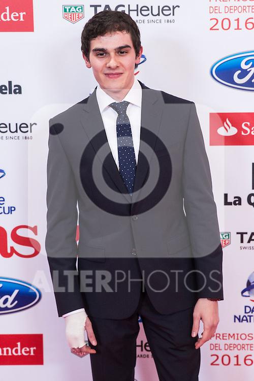 "Bruno Hortelano during the ""As sports Awards"" at Palace Hotel in Madrid, Spain. december 19, 2016. (ALTERPHOTOS/Rodrigo Jimenez)"