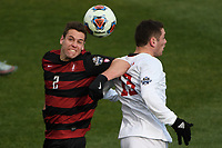 Chester, PA - Sunday December 10, 2017: Foster Langsdorf, Francesco Moore Stanford University defeated Indiana University 1-0 in double overtime during the NCAA 2017 Men's College Cup championship match at Talen Energy Stadium.