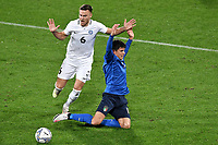 Matteo Pessina of Italy and Edgar Tur of Estonia compete for the ball during the friendly football match between Italy and Estonia at Artemio Franchi Stadium in Firenze (Italy), November, 11th 2020. Photo Andrea Staccioli/ Insidefoto