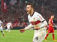Donis ANASTASIOS, VFB 14 celebrates<br /> VFB STUTTGART - 1.FC KOELN<br /> Football 1. Bundesliga , Stuttgart, am 13.10.2017, 8.Match Day, Saison 2017/2018, 1.Liga, 1.Bundesliga, *** Local Caption *** © pixathlon +++ tel. +49 - (040) - 22 63 02 60 - mail: info@pixathlon.de