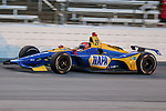 Andretti Autosport driver Alexander Rossi (27) of United States in action during the DXC Technology 600 race at Texas Motor Speedway in Fort Worth,Texas.
