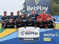 ITAGÜI - COLOMBIA, 24-10-2021: Itagüi Leones F.C. y Bogota F. C. durante partido de la fecha 14 por el Torneo BetPlay DIMAYOR II 2021 en el estadio Metropolitano de Itagüi en la ciudad de Itagüi. / Itagüi Leones F.C. and Bogota F. C. during a match of the 14th date for the BetPlay DIMAYOR II 2021 Tournament at the Metropolitano de Itagüi stadium in Itagüi city. / Photo: VizzorImage / Luis Benavides / Cont.
