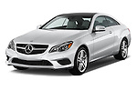Front three quarter view of a 2014 Mercedes E Class 350 Coupe