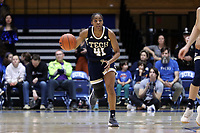 DURHAM, NC - JANUARY 26: Kierra Fletcher #41 of Georgia Tech dribbles the ball during a game between Georgia Tech and Duke at Cameron Indoor Stadium on January 26, 2020 in Durham, North Carolina.