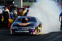 Sept. 2, 2011; Claremont, IN, USA: NHRA pro stock driver Vincent Nobile during qualifying for the US Nationals at Lucas Oil Raceway. Mandatory Credit: Mark J. Rebilas-