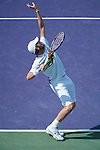 Mardy Fish loses  at the Sony Ericsson Open in Key Biscayne, Florida on March 29, 2012
