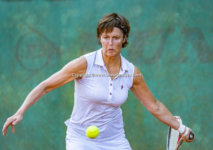 Hilversum, The Netherlands, September 2, 2018,  Tulip Tennis Center, NKS, National Championships Seniors, Women's 55+ final: Irma Leijten (NED) <br /> Photo: Tennisimages/Henk Koster