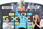 Dario Cataldo (ITA) Astana Pro Team wins the mountains Polka Dot Jersey of the 2018 Criterium du Dauphine 2018 at the end of Stage 7 running 136km from Moutiers to Saint Gervais Mont Blanc, France. 10th June 2018.<br /> Picture: ASO/Alex Broadway | Cyclefile<br /> <br /> <br /> All photos usage must carry mandatory copyright credit (© Cyclefile | ASO/Alex Broadway)