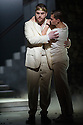 London, UK. 30.04.2014. English National Opera gives the world premiere of British composer Julian Anderson's first opera, THEBANS. Picture shows: Roland Wood (Oedipus) and Matt Casey (Eteocles). Photograph © Jane Hobson.