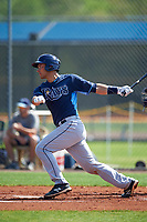 Tampa Bay Rays Luke Maile (67) during a minor league Spring Training intrasquad game on April 1, 2016 at Charlotte Sports Park in Port Charlotte, Florida.  (Mike Janes/Four Seam Images)