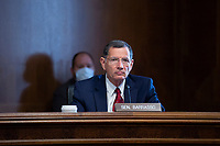 United States Senator John Barrasso (Republican of Wyoming) listens during a U.S. Senate Committee on Energy and Natural Resources hearing on Capitol Hill in Washington D.C., U.S., on Wednesday, June 24, 2020.  Credit: Stefani Reynolds / CNP/AdMedia/AdMedia