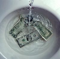 Money down the drain, laundering money