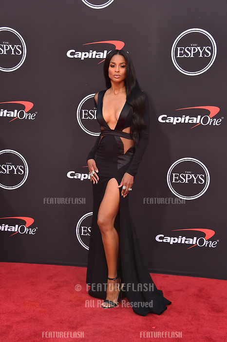 LOS ANGELES, USA. July 10, 2019: Ciara at the 2019 ESPY Awards at the Microsoft Theatre LA Live.<br /> Picture: Paul Smith/Featureflash
