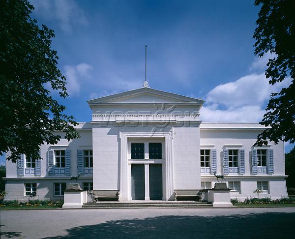 Schloss Charlottenhof,  Potsdam, Germany  (1826-29 ) - exterior of the palace in the Park of Sanssouci.