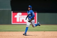 Kansas City Royals third baseman Dennicher Carrasco (51) rounds the bases after hitting a solo home run during an Instructional League game against the Arizona Diamondbacks at Chase Field on October 14, 2017 in Scottsdale, Arizona. (Zachary Lucy/Four Seam Images)