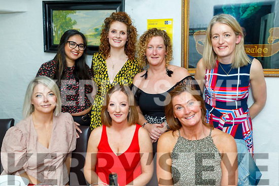 Jaqueline O'Callaghan from Ballinorrig Close celebrating her 40th birthday on Friday<br /> Seated l to r: Lisa Sommers, Jaqueline O'Callaghan and Jo McElligott.<br /> Back l to r: Saba Balal, Ciara Walsh, Mary McDonnell and Catriona Buckley.