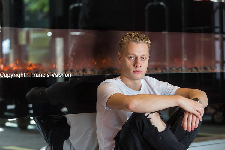 Portrait of Antoine-Olivier Pilon, starring in the movie 1:54 on September 21, 2016.