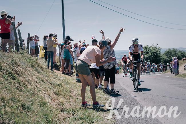 Marcus Burghardt (DEU/BORA-hansgrohe) up the Montée de Naves d'Aubrac (Cat1/1058m/8.9km/6.4%)<br /> <br /> 104th Tour de France 2017<br /> Stage 15 - Laissac-Sévérac l'Église › Le Puy-en-Velay (189km)