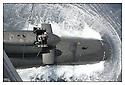 SNA Saphir,<br /> Sous-marin nucléaire d'attaque.<br /> Hélitreuillage d'un Super Frelon.<br /> Mer Méditerranée