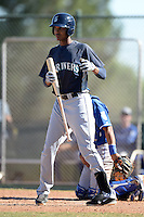 Seattle Mariners outfielder Wilton Martinez (11) during an instructional league game against the Kansas City Royals on October 2, 2013 at Surprise Stadium Training Complex in Surprise, Arizona.  (Mike Janes/Four Seam Images)