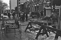 travaux-de-construction-dans-le-secteur-de-la-station-de-metro-atwater-rue-lambert-closse, 15 Janvier -1964