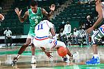 University of North Texas Mean Green Men's Basketball v Louisiana Tech Bulldogs at Super Pit in Denton on February 6, 2021