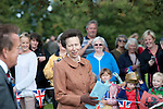 Princess Anne visits Oystermouth Castle in the small village of Mumbles near Swansea UK today.