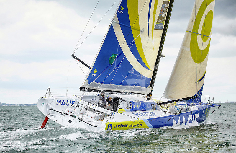 Start of the Rolex Fastnet Race, Cowes, Isle of Wight, United Kingdom.