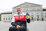 Ottawa ON - June 4 2014 - Mark Ideson shows of his Gold Medal during the Celebration of Excellence's visit to Rideau Hall. (Photo: Matthew Murnaghan/Canadian Paralympic Committee)