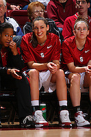 2 February 2008: Stanford Cardinal Ashley Cimino during Stanford's 75-62 win against the UCLA Bruins at Maples Pavilion in Stanford, CA.