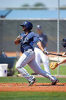 Tampa Bay Rays Devin Davis (55) during a minor league Spring Training intrasquad game on April 1, 2016 at Charlotte Sports Park in Port Charlotte, Florida.  (Mike Janes/Four Seam Images)