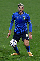 Vincenzo Grifo of Italy in action during the friendly football match between Italy and Estonia at Artemio Franchi Stadium in Firenze (Italy), November, 11th 2020. Photo Andrea Staccioli/ Insidefoto