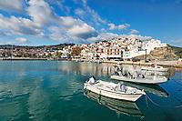 The port in the Chora of Skopelos island, Greece