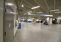 Train and Underground stations around London look deserted as Coronavirus fears spread and travel restrictions are expected. Thursday March 19th 2020<br /> <br /> Photo by Keith Mayhew